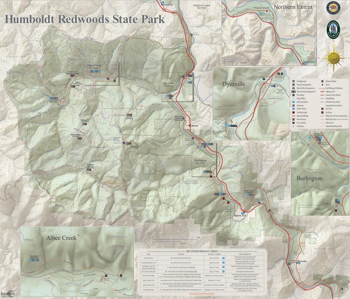 map humboldt redwoods interpretive association